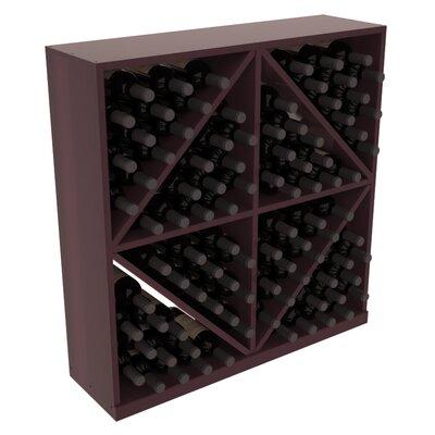 Karnes Redwood Diamond Storage 96 Bottle Floor Wine Rack Finish: Burgundy Satin