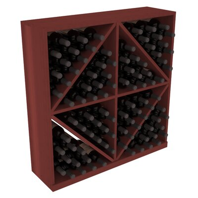 Karnes Redwood Diamond Storage 96 Bottle Floor Wine Rack Finish: Cherry
