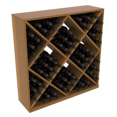 Karnes Redwood Diamond Cube 82 Bottle Floor Wine Rack Finish: Oak Satin