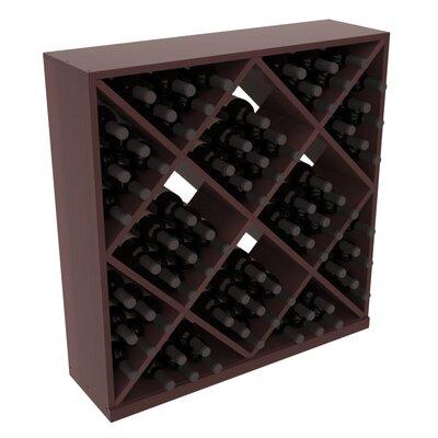 Karnes Redwood Diamond Cube 82 Bottle Floor Wine Rack Finish: Walnut Satin