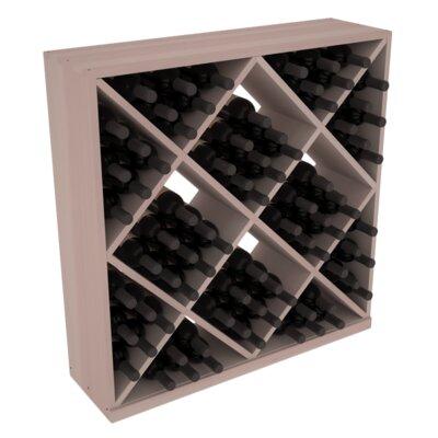 Karnes Redwood Diamond Cube 82 Bottle Floor Wine Rack Finish: Gray