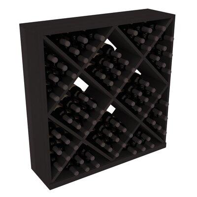 Karnes Redwood Diamond Cube 82 Bottle Floor Wine Rack Finish: Black
