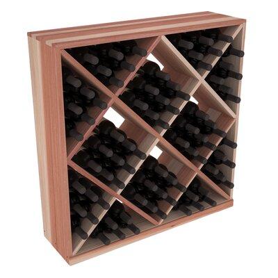 Karnes Redwood Diamond Cube 82 Bottle Floor Wine Rack Finish: Natural