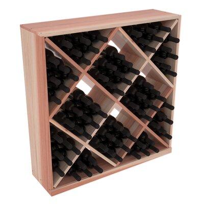 Karnes Redwood Diamond Cube 82 Bottle Floor Wine Rack Finish: Natural Satin