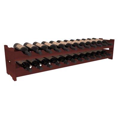 Karnes Redwood Scalloped 24 Bottle Tabletop Wine Rack Finish: Cherry
