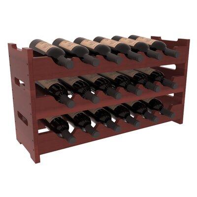 Karnes Redwood Mini Scalloped 18 Bottle Tabletop Wine Rack Finish: Cherry Satin
