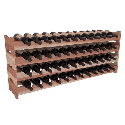 Karnes Redwood Scalloped 48 Bottle Tabletop Wine Rack Finish: Natural