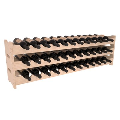 Karnes Pine Scalloped 36 Bottle Tabletop Wine Rack Finish: Natural Satin