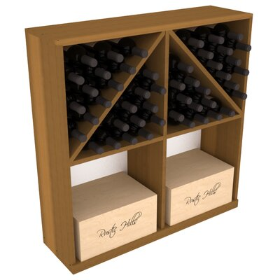 Karnes Redwood 96 Bottle Floor Wine Rack Finish: Oak