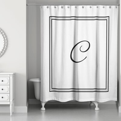 Ashbrook Classic Monogrammed Shower Curtain Letter: C