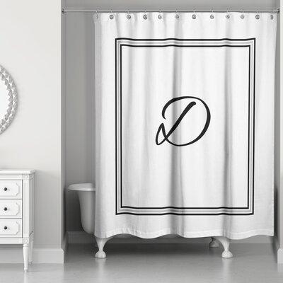 Ashbrook Classic Monogrammed Shower Curtain Letter: D