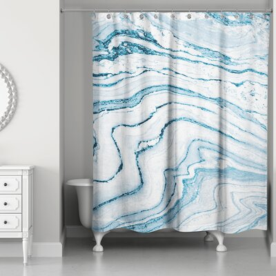 Bellicent Asenath Marble Shower Curtain