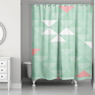 Nowicki Triangle Mint Shower Curtain
