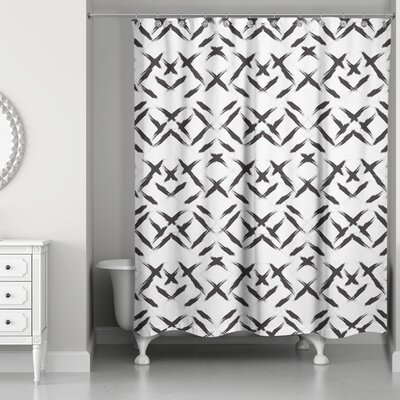 Novotny Brush Strokes Shower Curtain