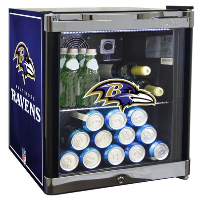 NFL 1.8 cu. ft. Beverage Center NFL Team: Baltimore Ravens