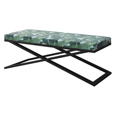 "Ahumada X-Base Upholstered Bench Color: Black, Size: 22"" H x 60"" W x 24"" D"