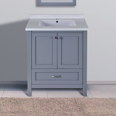 "Maldonado 30"" Single Bathroom Vanity Set Top Finish: Gray"
