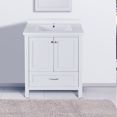 "Maldonado 30"" Single Bathroom Vanity Set Top Finish: White"