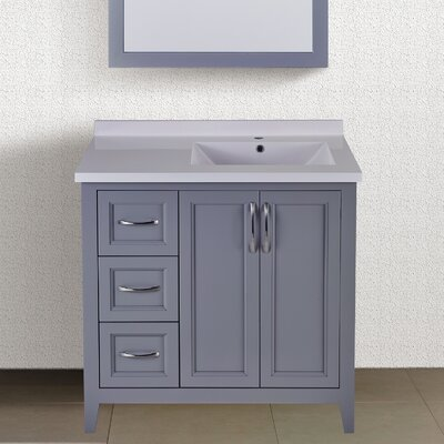 "Maldonado 36"" Single Bathroom Vanity Set Top Finish: Gray"