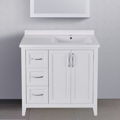 "Maldonado 36"" Single Bathroom Vanity Set Top Finish: White"