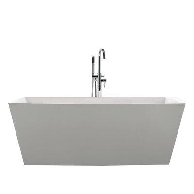 """Sessile 67"""" x 28.75"""" Soaking Bathtub"""