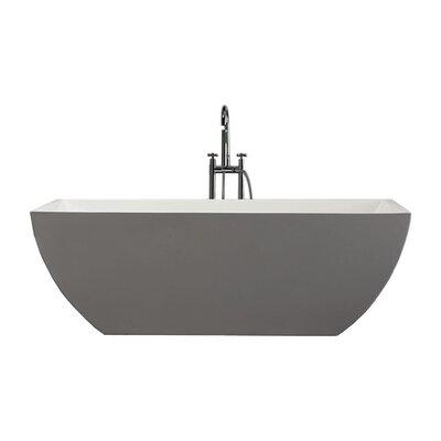 "Full Moon 67"" x 29.5"" Soaking Bathtub"