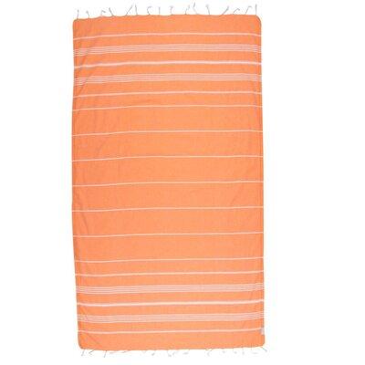 Classic 100% Cotton Beach Towel Color: Orange
