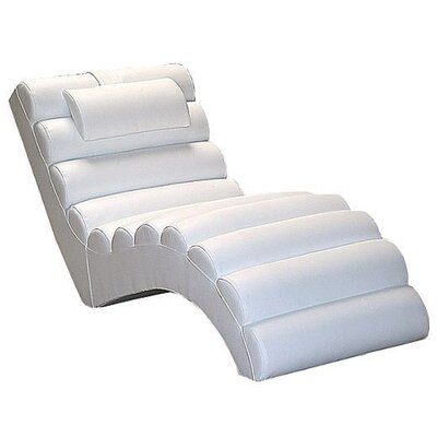 Dariell Faux Leather Chaise Lounge Upholstery: White