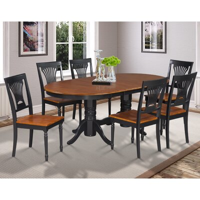 Inwood 7 Piece Carved Dining Set Finish: Black/Cherry