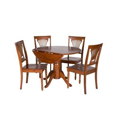 Chesterton 5 Piece Dining Set Finish: Saddle Brown