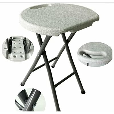 Astoria Metal and Plastic Folding Accent Stool Finish: White