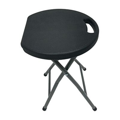 Astoria Metal and Plastic Folding Accent Stool Finish: Black