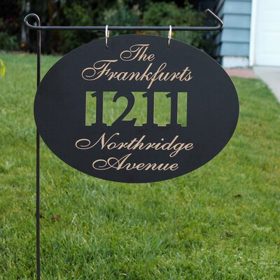 Blackboard 3-Line Lawn Address Sign