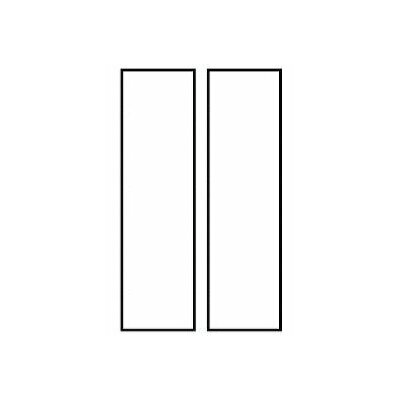 2-Line Wall Address Plaque Plaque Color: White