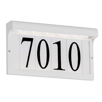 5-Tile Address Plaque Frame Finish: White