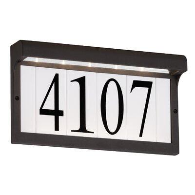 5-Tile Address Plaque Frame Finish: Black