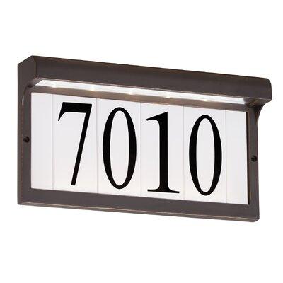 5-Tile Address Plaque Frame Finish: Antique Bronze