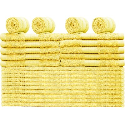 Damiani 24 Piece 100% Cotton Washcloth Set Color: Banana