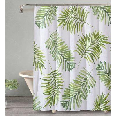 Bonham Breezy Palm Cotton Shower Curtain