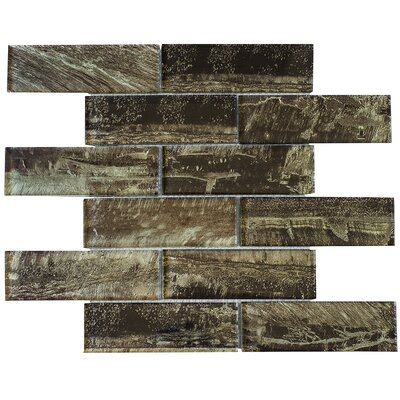 2 X 6 Glass Subway Tile In Brown Vein Low Price Techourlifecom