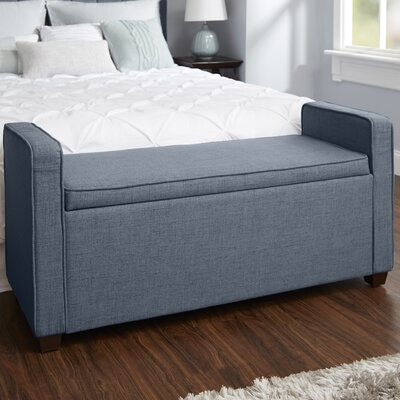 Chevalier Upholstered Storage Bench Upholstery: Dark Gray