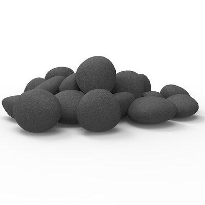 Lightweight Fiber Gas Ethanol Electric Fireplace Pebble Finish: Black