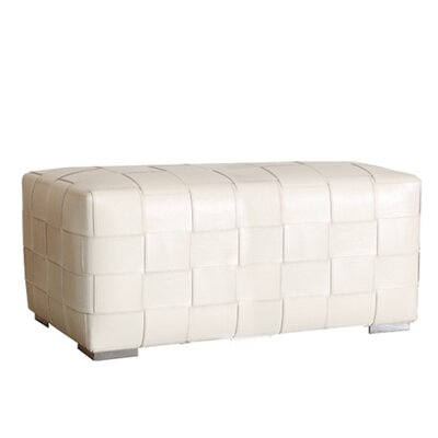 Leather Bench Upholstery: Crocodile White