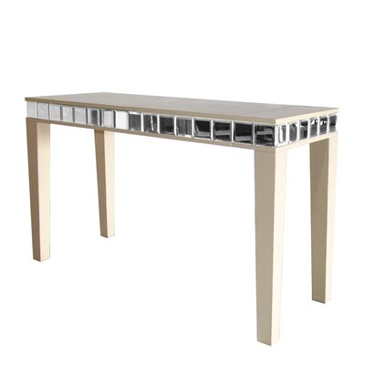 Leather Console Table Color: Iguana Golden Brown