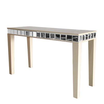 Leather Console Table Color: Plain Blue