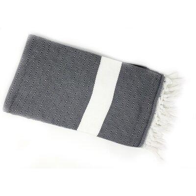 Pestemal Turkish 100% Cotton Beach Towel Color: Black