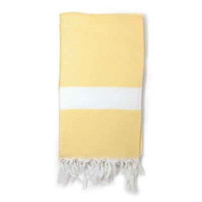 Pestemal Turkish 100% Cotton Beach Towel Color: Yellow
