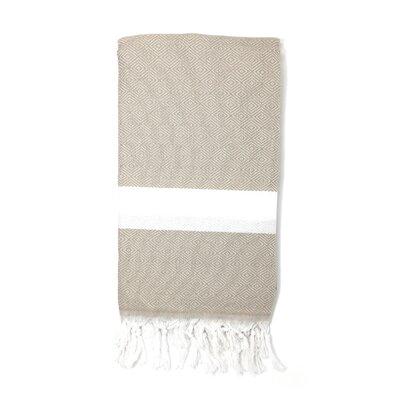 Pestemal Turkish 100% Cotton Beach Towel Color: Beige