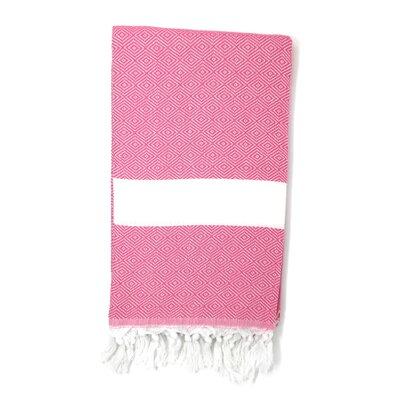 Pestemal Turkish 100% Cotton Beach Towel Color: Pink