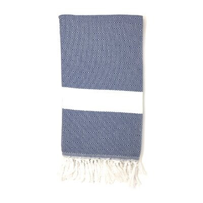 Pestemal Turkish 100% Cotton Beach Towel Color: Navy Blue